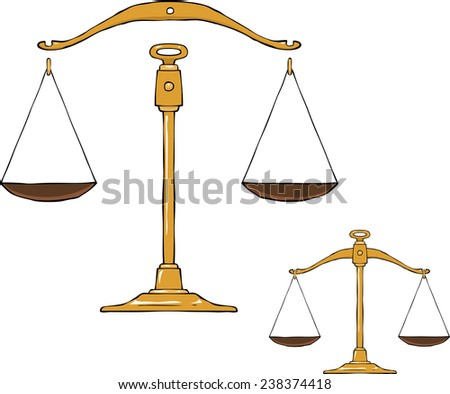 Libra on a white background vector illustration - stock vector