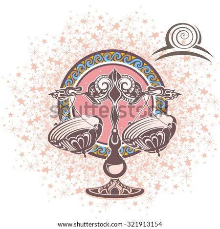 Libra. Zodiac sign - stock vector