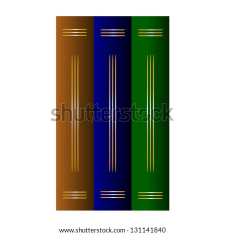Library - Vector illustration of old books - stock vector
