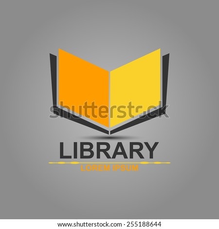 Library Yellow - stock vector