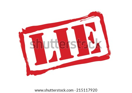 LIE red rubber stamp vector over a white background. - stock vector
