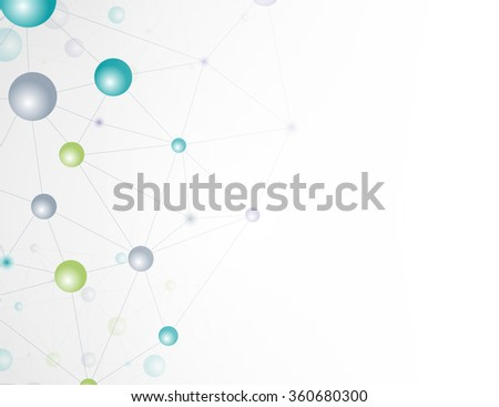 Life and biology, medicine scientific, molecular research dna. Vector  - stock vector