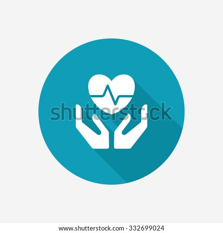 Life and health insurance icon - stock vector