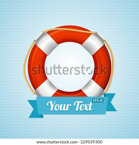 Life Bouy Background Sailor With Space For Your Text. Vector illustration - stock vector