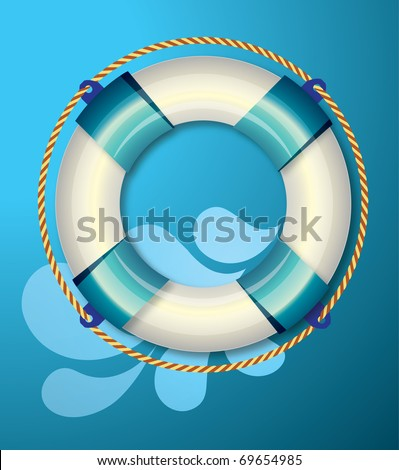 Life buoy - stock vector