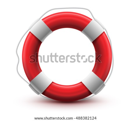 Life Buoy. High Quality. Help SOS Concept. Vector Illustration.