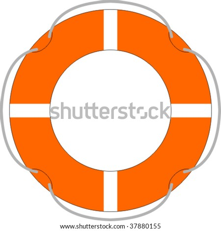 Life buoy isolated over a white background - stock vector