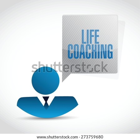 life coaching icon avatar sign concept illustration design over white - stock vector