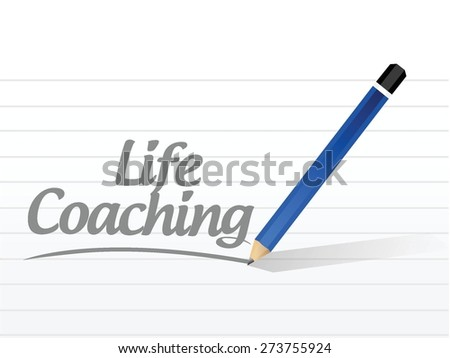 life coaching message sign icon concept illustration design over white - stock vector