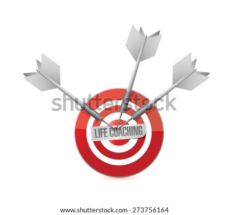 life coaching target sign icon concept illustration design over white - stock vector