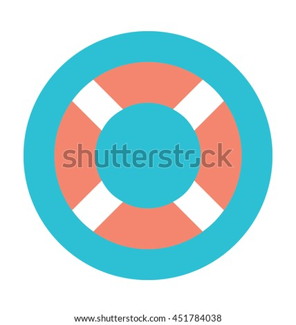 Life Ring Colored Vector Icon