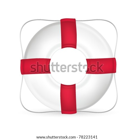 Life saver isolated on white - stock vector