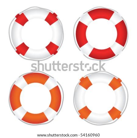 Life Saver set - stock vector