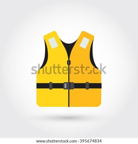 life vest icon - stock vector