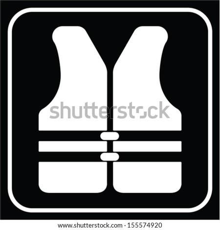 life vest, vector - stock vector