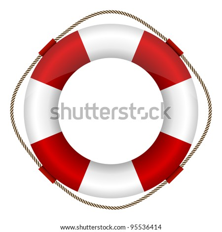 lifebelt - stock vector