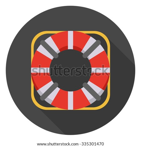lifebuoy icon - stock vector