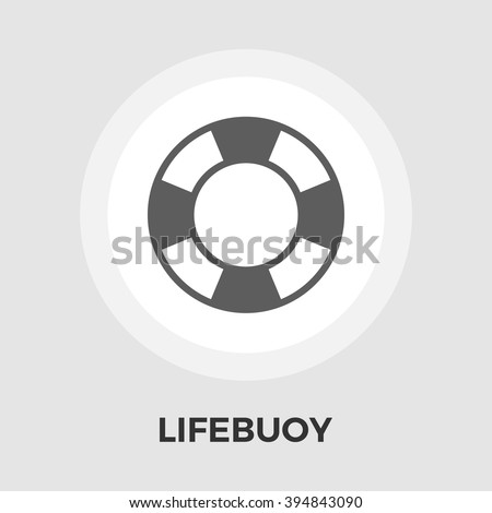 Lifebuoy icon vector. Flat icon isolated on the white background. Editable EPS file. Vector illustration. - stock vector