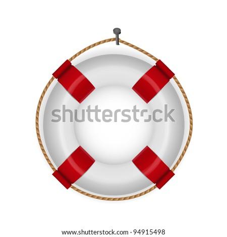 lifebuoy isolated - stock vector
