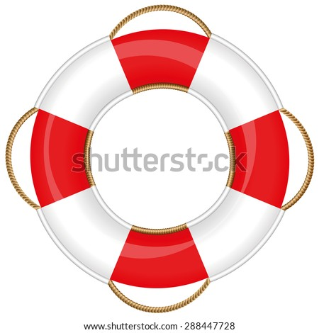 Lifebuoy - isolated vector illustration on white background.