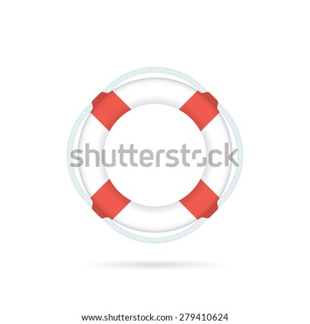 Lifebuoy / life preserver icon. Vector illustration