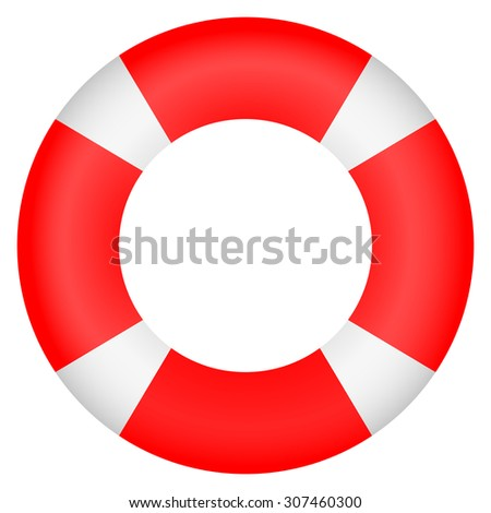 lifebuoy on a white background - stock vector