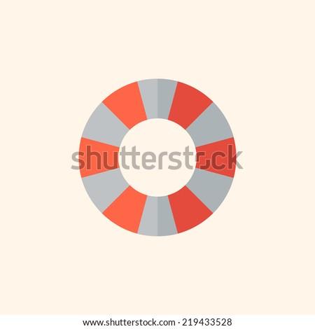Lifebuoy. Travel Flat Icon - stock vector