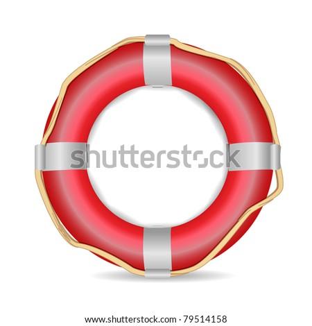 Lifebuoy Vector - stock vector