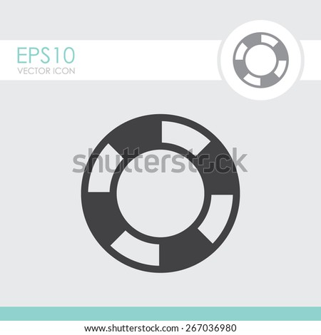 Lifebuoy vector icon. - stock vector