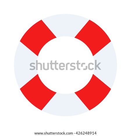 Lifebuoy vector symbol lifesaver swim. Isolated lifebuoy preserver object concept sign guard. Beach water ship graphic float lifebuoy. Stripped lifebuoy emergency help survival equipment protection. - stock vector