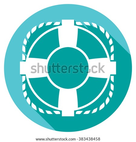 lifesaver flat icon - stock vector