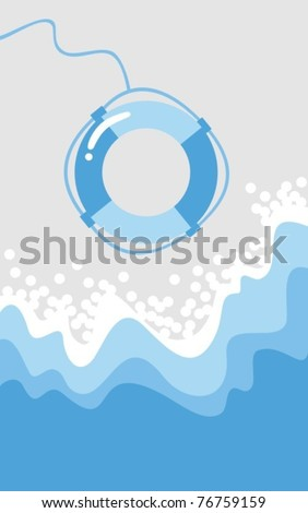 Lifesaving - stock vector