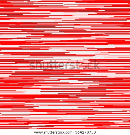 Light abstract background with random horizontal red lines, glitch effect for design concepts, posters, banners, web, presentations and prints. Vector illustration. - stock vector