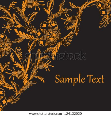 Light abstract floral illustration with text box.