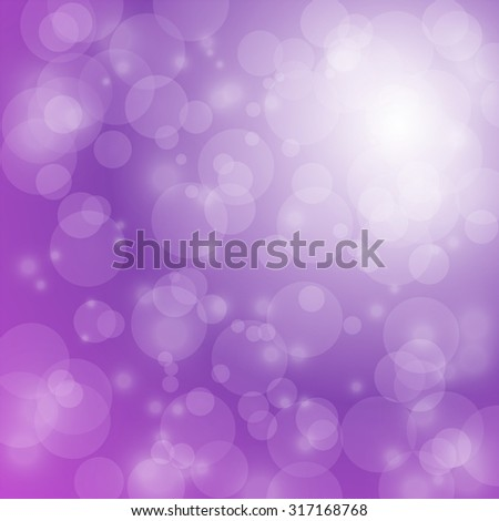 light and bokeh on purple background for christmas backdrop