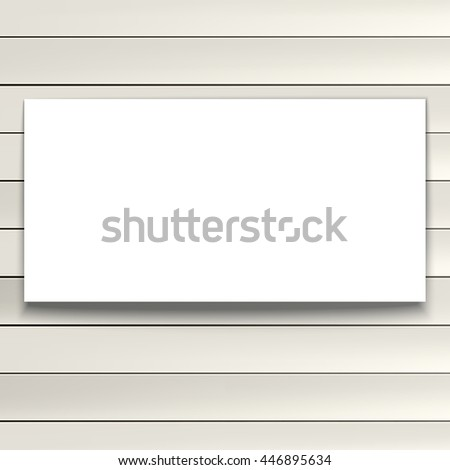 Light background of painted wooden planks with plase for text. Vector editable texture with banner, easy to change size
