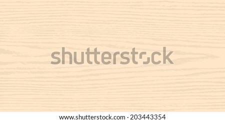 Light beige wood texture background. Empty natural pattern swatch template. Realistic plank with annual years circles. Backdrop size horizontal format. Vector illustration design elements 8 eps - stock vector