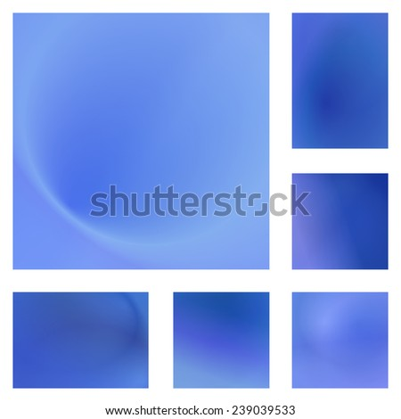 Light blue abstract background set