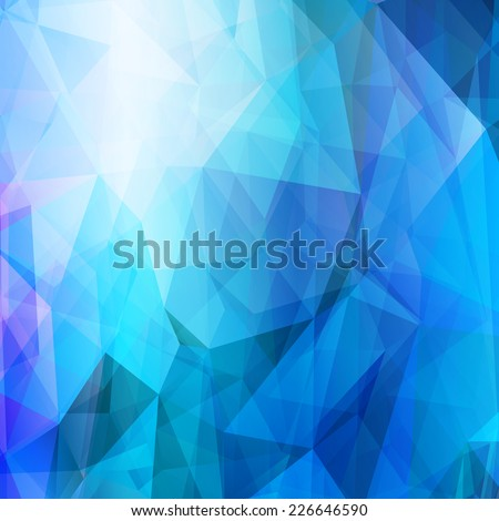 Light blue abstract geometric pattern. Technological futuristic design. Triangular background. - stock vector