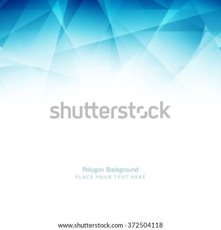 Light blue color polygonal shape background - stock vector
