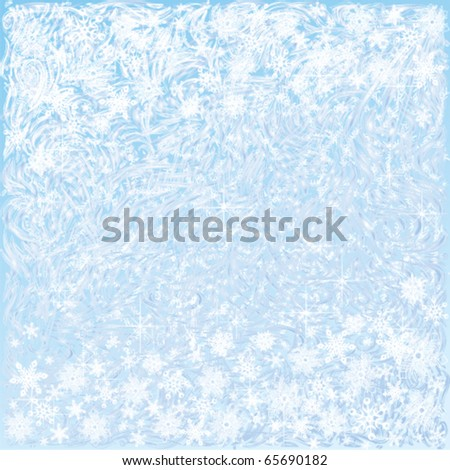 Light blue frosty background - stock vector
