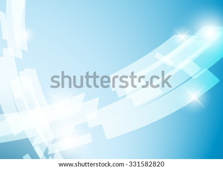 light blue shiny abstract background  - vector - stock vector