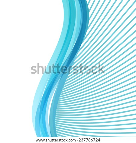 light blue soft abstract background folder with rays and swoosh waves. vector illustration