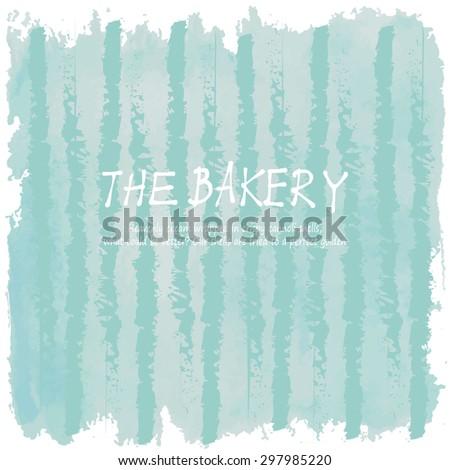 Light blue tone with retro vintage style and isolate in summer.Love hipster wedding card or bakery dessert menu - stock vector