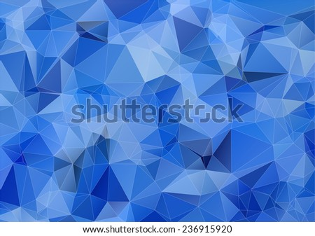 Light blue triangle polygonal background for your design - stock vector