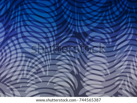 Light BLUE vector natural elegant pattern. Ethnic elegant natural pattern with gradient. The template can be used as a background for cell phones.