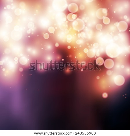 Light   bokeh light vector background - stock vector