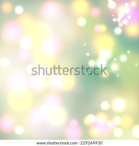 Light bokeh light vector cover background with text space - stock vector