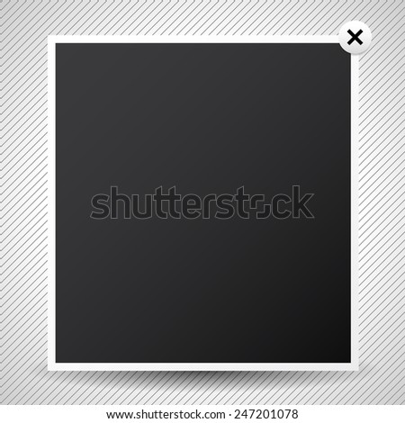 Light box pop-up window. Web design element - stock vector