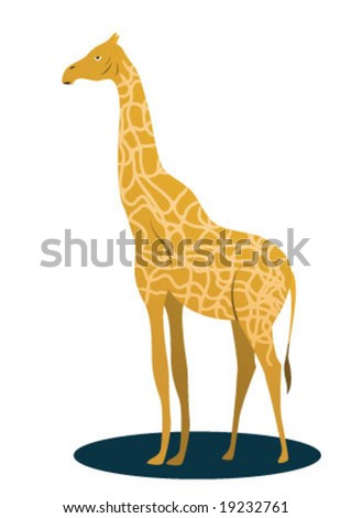 Light brown Giraffe is looking